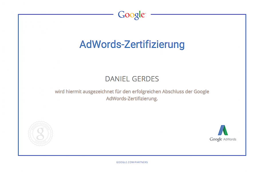 Daniel Gerdes | Google Adwords