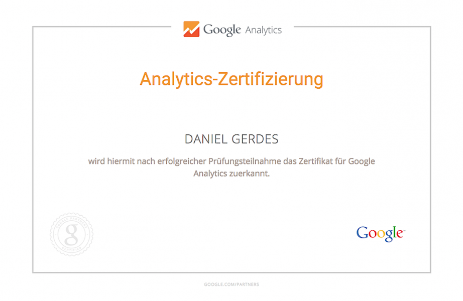 Daniel Gerdes | Google Analytics